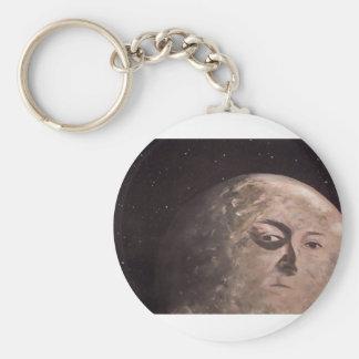 Hombre de la luna llavero personalizado