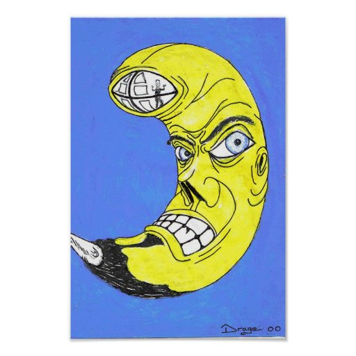 Hombre de la luna poster