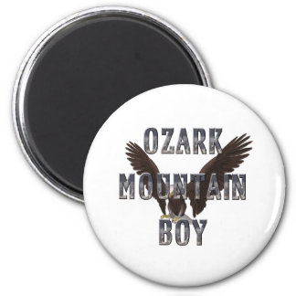 Hombre de la montaña de Ozark de la CAMISETA Imán Redondo 5 Cm