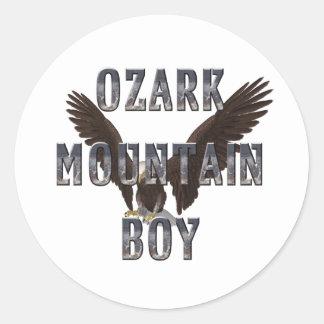 Hombre de la montaña de Ozark de la CAMISETA Etiquetas Redondas