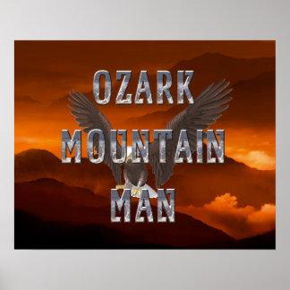 Hombre de la montaña de Ozark de la CAMISETA Póster