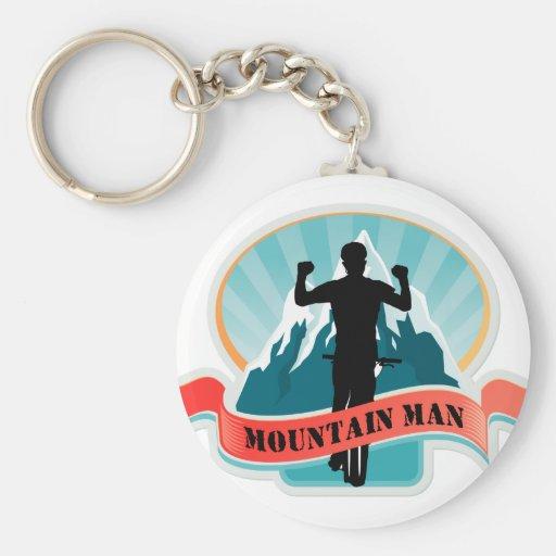 Hombre de la montaña llaveros