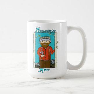 Hombre de la montaña tazas de café