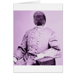 Hombre de la morsa tarjeta