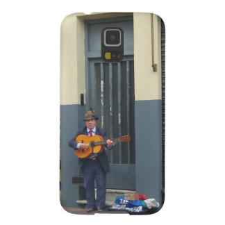 Hombre de la música en la calle en Buenos Aires Carcasas Para Galaxy S5