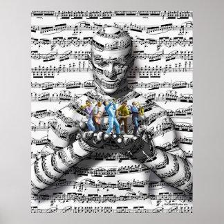 Hombre de la música póster