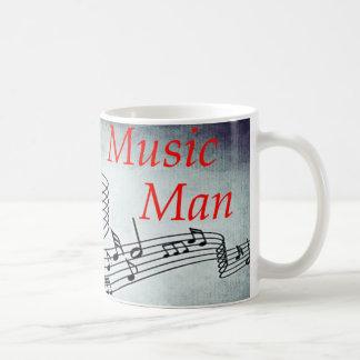 Hombre de la música taza clásica