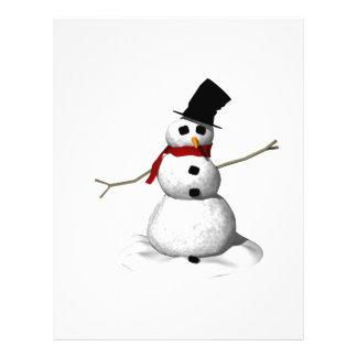 Hombre de la nieve flyer personalizado