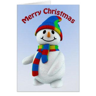 Hombre de la nieve tarjeta de felicitación