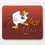Hombre de la pierna alfombrilla de ratones