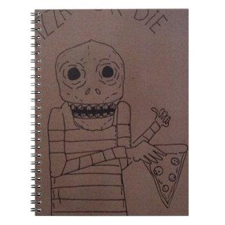 Hombre de la pizza libros de apuntes con espiral