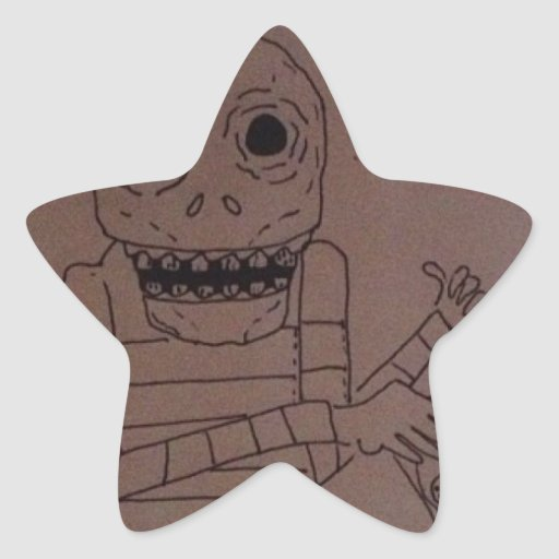 Hombre de la pizza calcomanía forma de estrella personalizadas