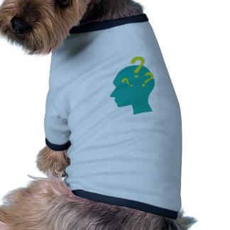 Hombre de la pregunta camiseta con mangas para perro