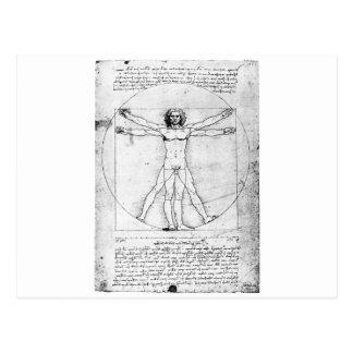 Hombre de la proporción de Leondardo da Vinci Postal