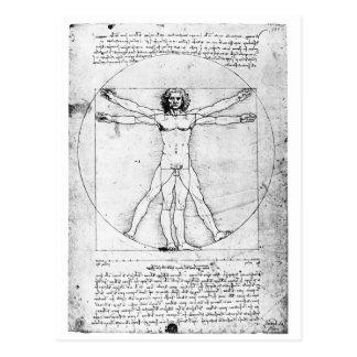 Hombre de la proporción de Leondardo da Vinci Tarjeta Postal