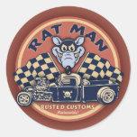 Hombre de la rata II Etiqueta