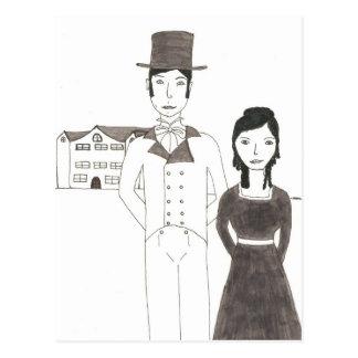 Hombre de la regencia y esposa (el tiempo no me tarjetas postales