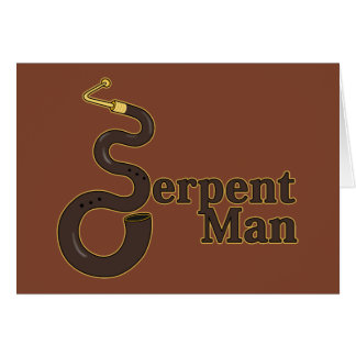 Hombre de la serpiente tarjeta de felicitación