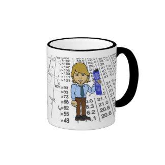 Hombre de la taza del ingeniero civil