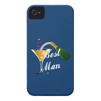 Hombre de la tostada de Champán el mejor Case-Mate iPhone 4 Coberturas