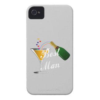 Hombre de la tostada de Champán el mejor iPhone 4 Case-Mate Carcasas