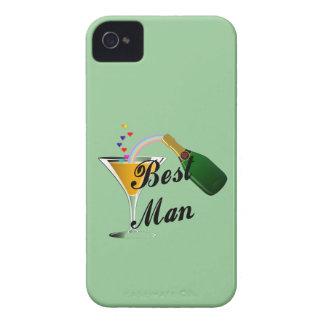 Hombre de la tostada de Champán el mejor iPhone 4 Case-Mate Protector