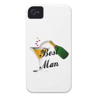 Hombre de la tostada de Champán el mejor iPhone 4 Protectores