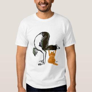 Hombre de la yoga camisas
