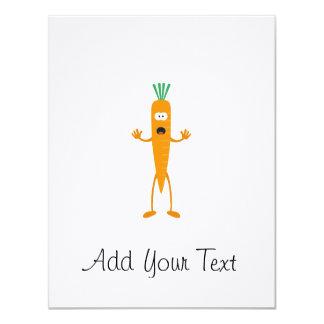 """Hombre de la zanahoria invitación 4.25"""" x 5.5"""""""