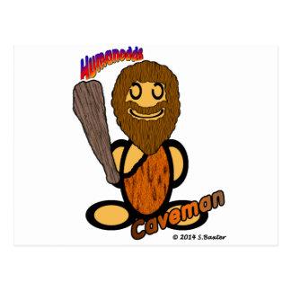 Hombre de las cavernas (con los logotipos) tarjeta postal
