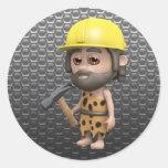 hombre de las cavernas-constructor pegatinas