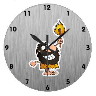 Hombre de las cavernas del dibujo animado; Metal-m Relojes