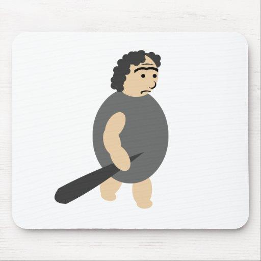 Hombre de las cavernas del dibujo animado mouse pads