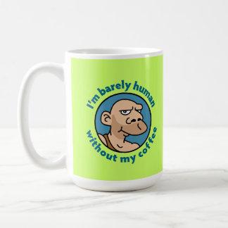 Hombre de las cavernas del dibujo animado taza de café