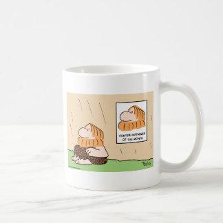 hombre de las cavernas del mes del recolector del  tazas de café