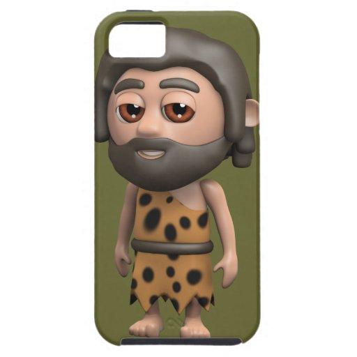 Hombre de las cavernas divertido 3d (editable) iPhone 5 Case-Mate carcasas