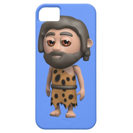 Hombre de las cavernas divertido 3d (editable) iPhone 5 funda