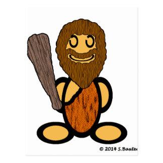 Hombre de las cavernas (llano) postal