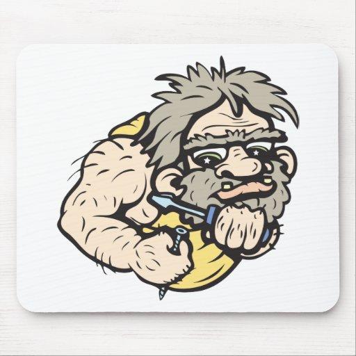 ¡Hombre de las cavernas!  ¡Personalizable! Mouse Pad