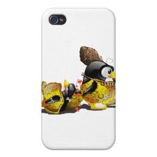 Hombre de las cavernas Tux en amor iPhone 4 Cárcasas