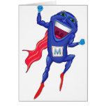 Hombre de las mitocondrias tarjeta de felicitación