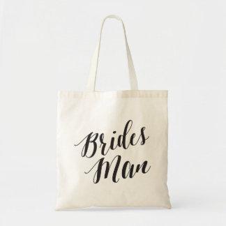 Hombre de las novias del tote el | de la escritura bolsa tela barata