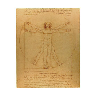 Hombre de Leonardo da Vinci Vitruvian Cuadro De Madera