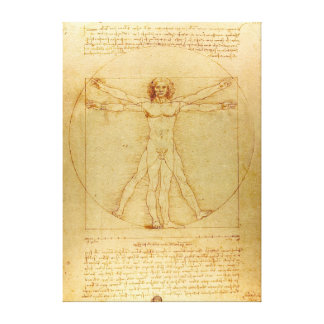 Hombre de Leonardo da Vinci Vitruvian Impresiones En Lona
