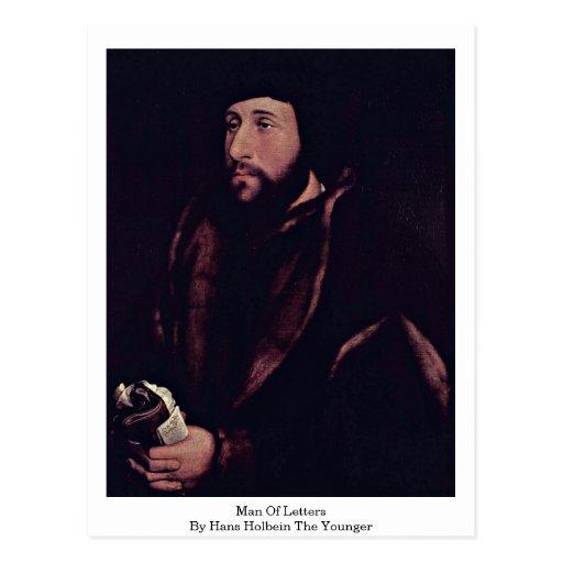 Hombre de letras de Hans Holbein el más joven Tarjetas Postales