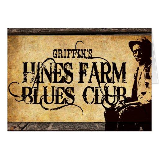 Hombre de los azules de la granja de Hines Tarjeta De Felicitación