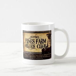 Hombre de los azules de la granja de Hines Tazas De Café