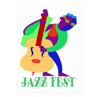 Hombre de los azules del Fest del jazz Tarjetas Postales
