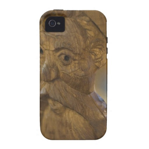 Hombre de madera iPhone 4 carcasas