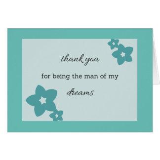 Hombre de mis sueños 1 tarjeta de felicitación